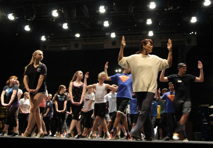 Carlsbad students attend an afterschool tryout for the spring musical.  Boys and girls alike were led through different dance routines in the CAC.