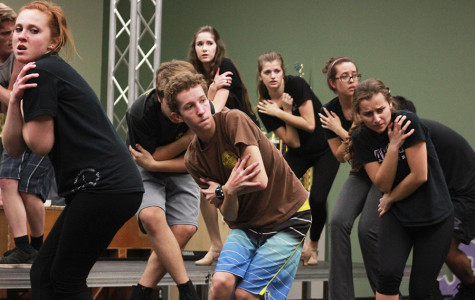 Members of Sound Express rehearse a number from their 15 minute-long set, which is very physically tolling considering the amount of movement they have to perform while singing.