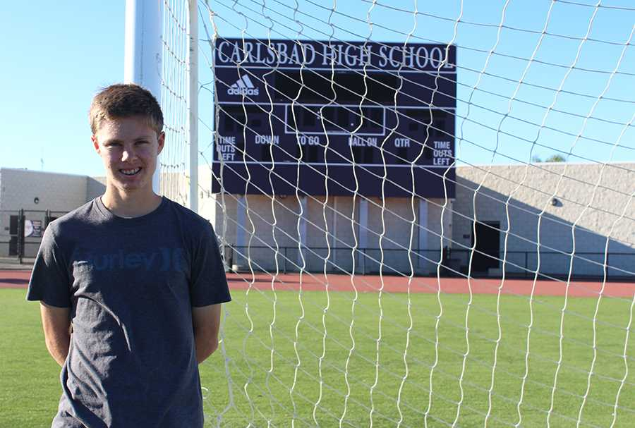Sophomore+Richard+Harris+plays+mid+field+for+the+varsity+boys+soccer+team.+This+is+his+first+year+playing+for+varsity.