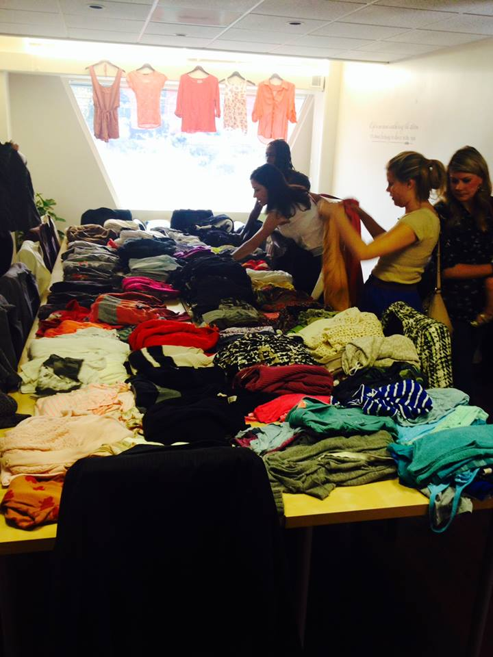 The non-profit organization Live and Love held a fundraiser from 10-2 p.m. on Feb. 15. They sold clothes for five dollars and then donated all of the money to Live and Love. (photo: Ashlyn Bobele)