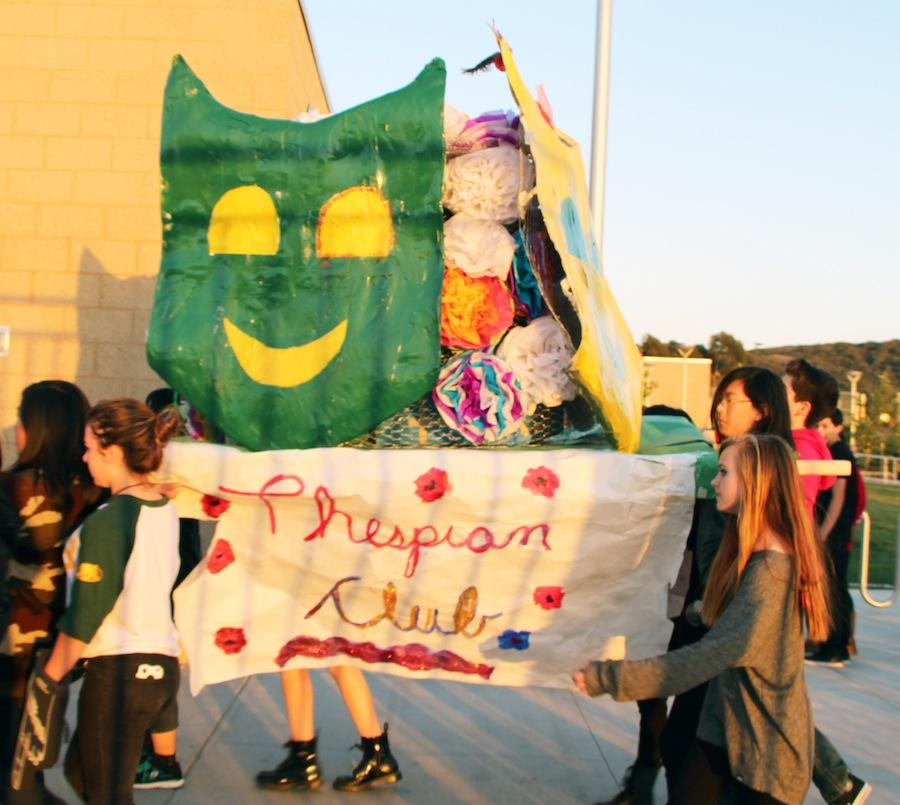 Sage Creek's Thespian Club created and showcased their float during their Hoopcoming parade.  The parade was held on Wed. Feb. 5 in Sage Creek high's parking lot.