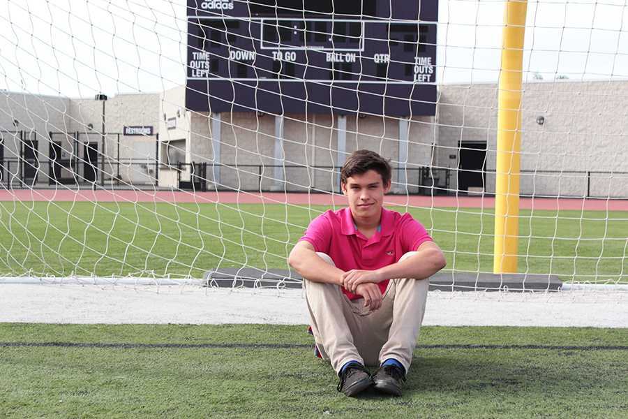 Despite his dramatic injury, Junior Emilio Bunnell recovered to continue on to play both varsity boy's soccer and as a labero for varsity boy's volleyball.