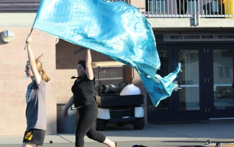 Winter guard competes at first home tournament