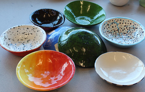 Ceramics class has created little bowls for charity through the Feed America Organization. The non-profit organization provides food to hungry San Diegans, and these bowls are just as important as the actual food itself.