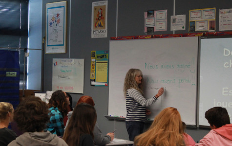 Madame Kuehner teaches French 1,French 2 and French 3 and 3 honors. Next year there is a possibility of a new French 4AP.