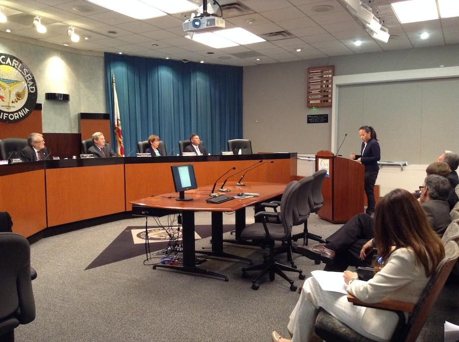 Senior+Mary+Chen+speaks+to+City+Council+members+of+Carlsbad.++Chen+was+one+of+26+applicants+who+spoke+on+Mar.11.