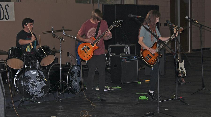 Members of  the band Moon Unit play their set, this being only the second time theyve ever played together at a show. This group placed 3rd overall at the competition, and Shawshank Redeemed ended with a victorious first place.