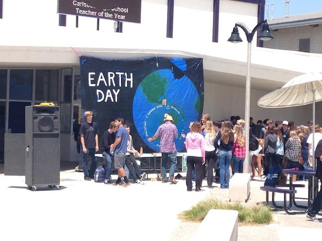 On Tuesday, Green Club put on an Earth Day celebration. Green Club is focused on raising environmental awareness.