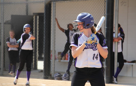 Freshman Alana Snow steps up to bat during the JV softball game against Vista.  The girls beat the Panthers 13-2.