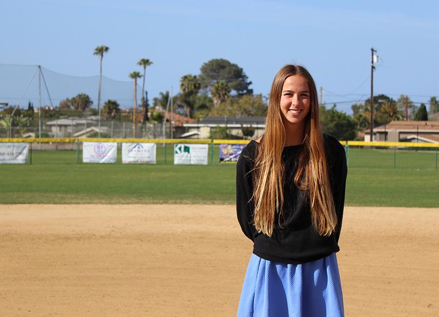 Hannah+Bandimere%2C++a+junior+on+varsity+softball.+
