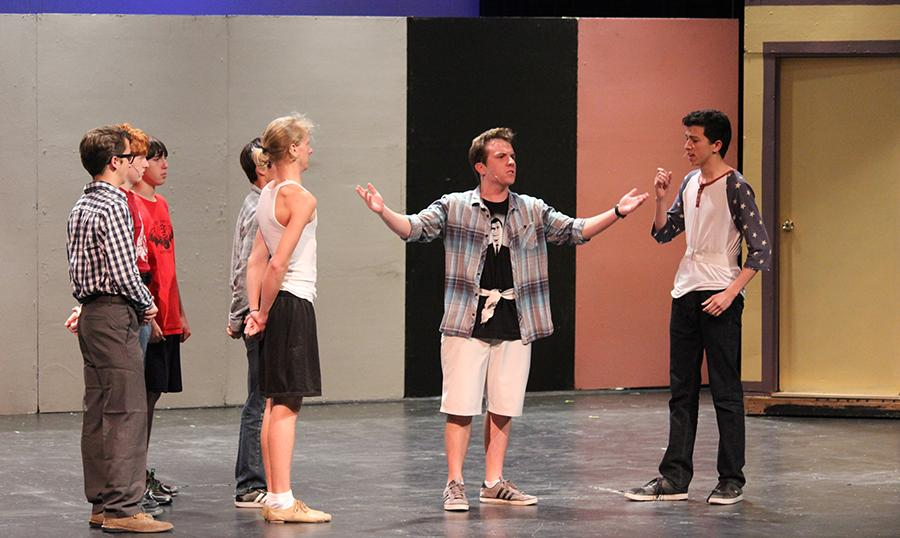 Theatre rehearses How to Succeed in Business Without Really Trying to prepare for the upcoming show on Friday, May 2.