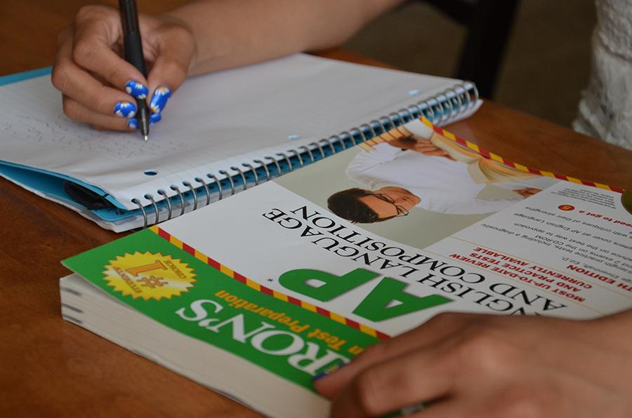 Students struggle to study for the AP tests while maintaing good grades in other courses. (photo illustration)