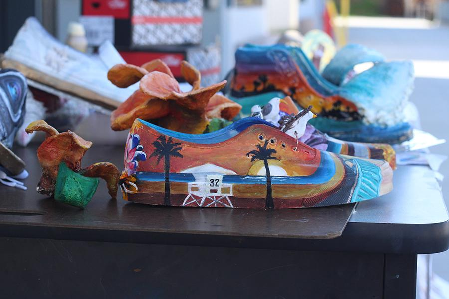 The CHS art department had their students create shoes and enter them in the vans custom culture competition. If Carlsbad wins, the art department will win $50,000. Remember to spread the word and vote!