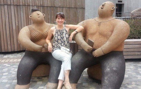Señora Wakefield smiles happily as she experiences Asian culture  on her once and a life time trip.