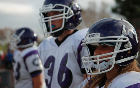 Freshman female joins the football team