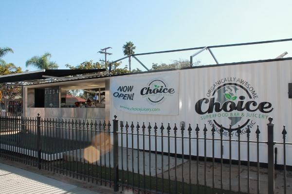 Choice is located in downtown Carlsbad. They have many healthy eating  options ranging from smoothies to sushi.