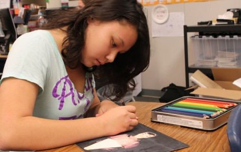 Junior Lehua Plaza expresses herself through many different activities. One she enjoys most is art.