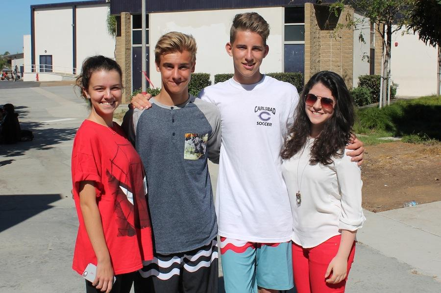 During the austrian exchange program the austrians stayed with Carlsbad High students.  They got the opportunity to experience american culture.
