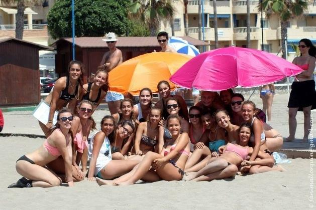 Sophomores Kelley Jacome and  Alea Gladstein got the opportunity to travel to Spain and play volleyball there through SoCal Volleyball Club.  The team worked hard to get there, and even harder to play against other club teams in Spain.