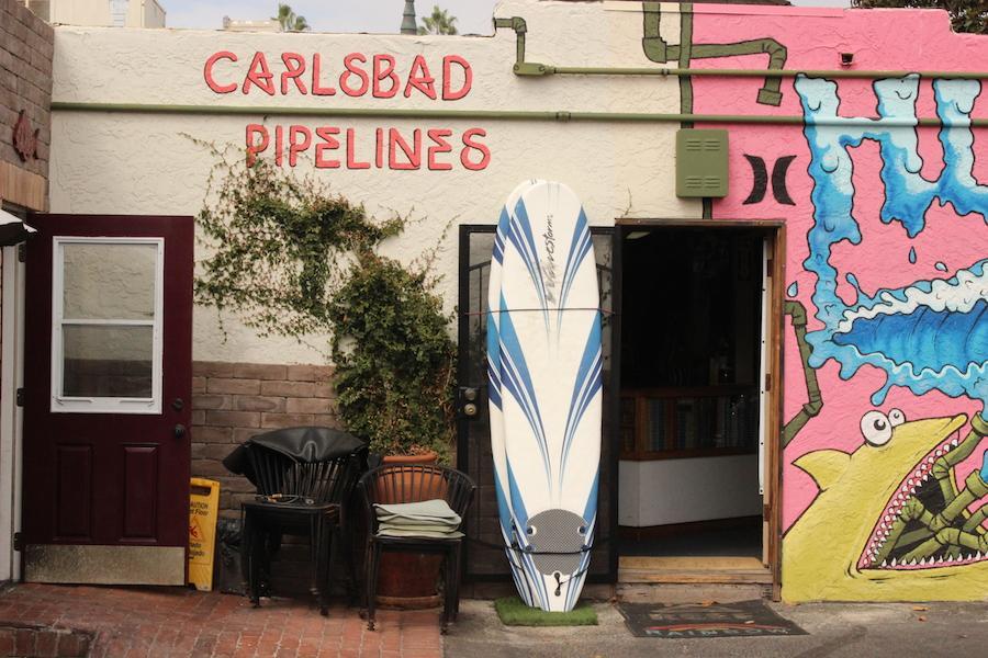 Carlsbad Pipelines shop on Carlsbad Boulevard.