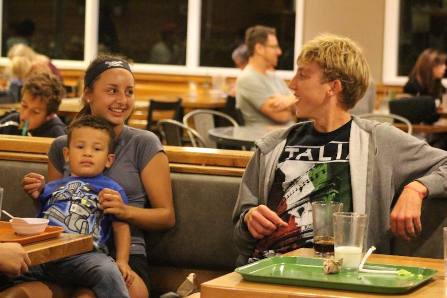 Senior Jase Hansen support cross country fundraiser at Souplantation. 15% of the money fundraised went to cross country funds.