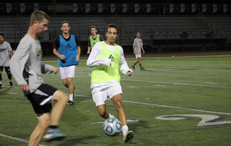 Senior Ian John tries out for varsity soccer on Nov. 20,2014. This will be John's second year on varsity