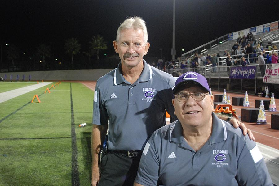 Trainers Larry and Norm have worked together for 16 years.  Their friendship is not only on the field, but off the field.