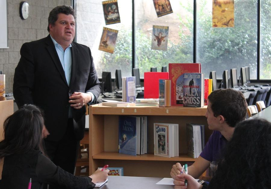 Monday Dec.8,2014 Ruben Avarrette spoke to Carlsbad High School student about what it is like to be a journalist. Navarette has apeared on PBS and CNN as political commentator.