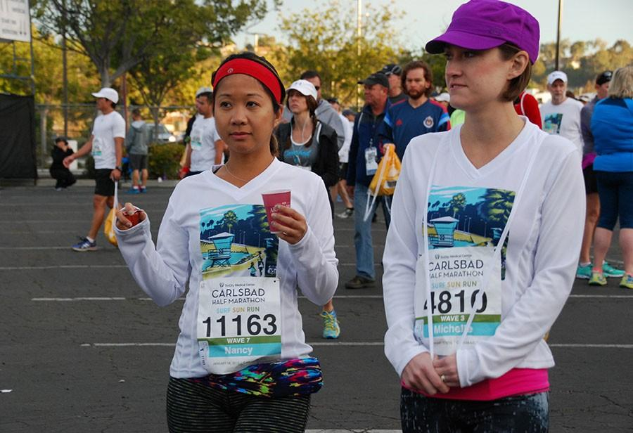 The Carlsbad marathon was Sun. Jan  18. The race started on Marron Rd  and routed down to La Costa and back totaling 26.2 miles.