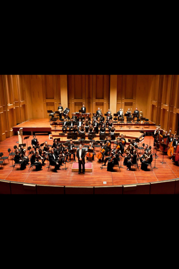 The+Carlsbad+Youth+Orchestra+performs+in+one+of+their+many+symphonies+including+this+one+from+last+year.++The+orchestra+has+65+members+and+was+one+of+four+groups+chosen+out+of+the+entire+nation+to+play+at+Disney+Hall+in+Los+Angeles%2C+California.