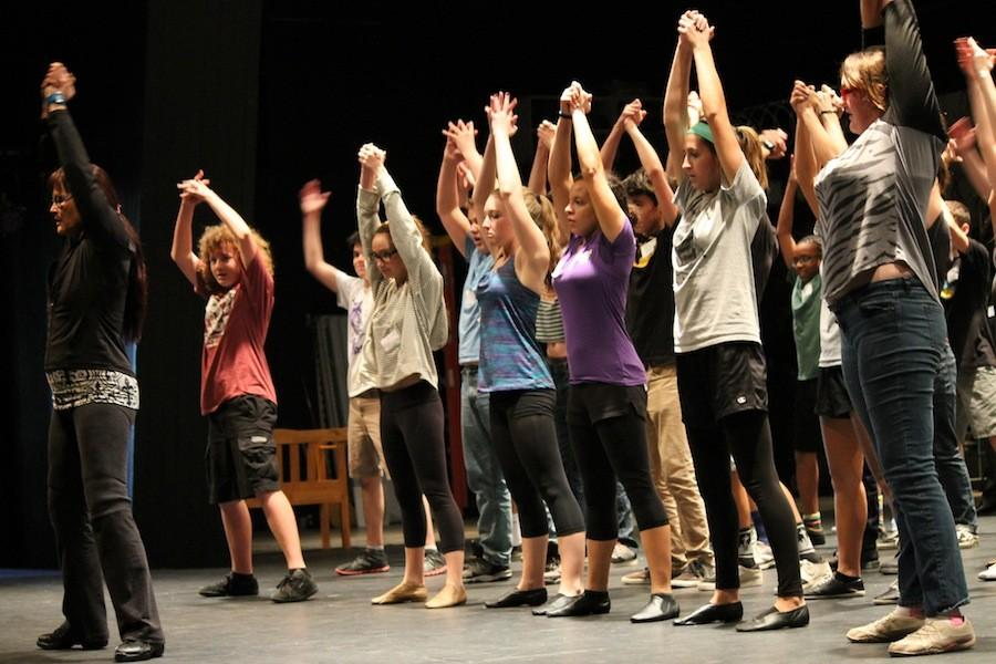 Auditions+for+the+spring+musical+were+held+in+the+CAC.+Many+students+learned+and+performed+the+choreography.