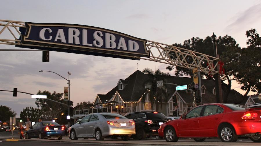 On Jan,8,2015 Carlsbad celebrated the lighting of the new sign that welcome people to our town along the coast highway. The funds to power the signs come from donations.