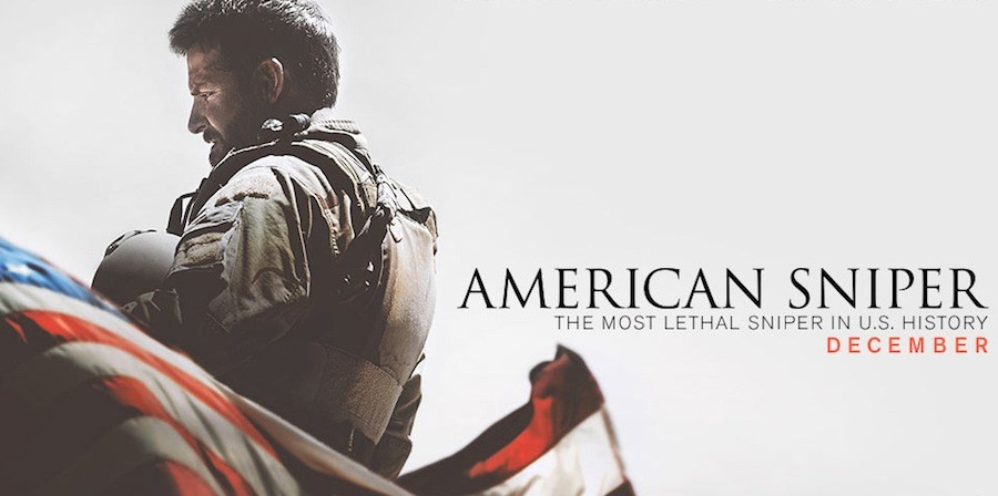 American Sniper stars Bradley Cooper and Sienna Miller. The movie follows the heroics of Navy SEAL Chris Kyle.