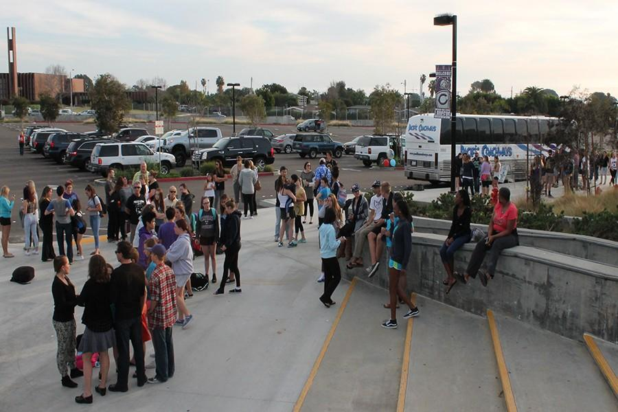 Australian exchange students prepare for departure from Carlsbad High School. The Aussies were here for ten days and toured around San Diego on their summer vacation.