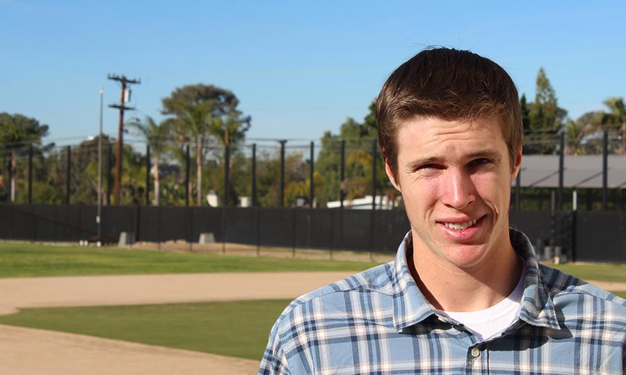 Grant Buck is a senior who plays baseball here at Carlsbad High School.