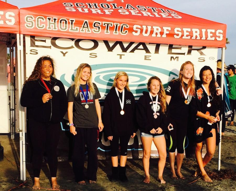 Junior Evalani Jarrard wins first place in a surf competition amongst multiple schools. Jarrard placed in front of female surfers from LCC, Torey Pines, and San Diego.
