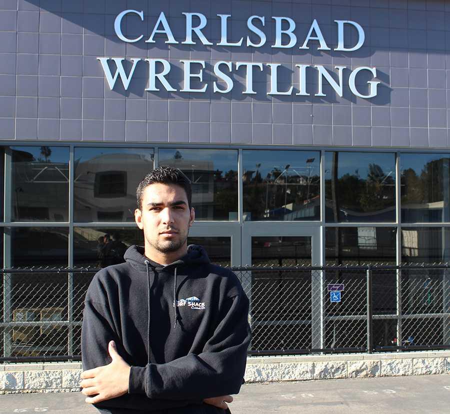 Josh Jeetan is a senior on varsity wrestling at Carlsbad High.