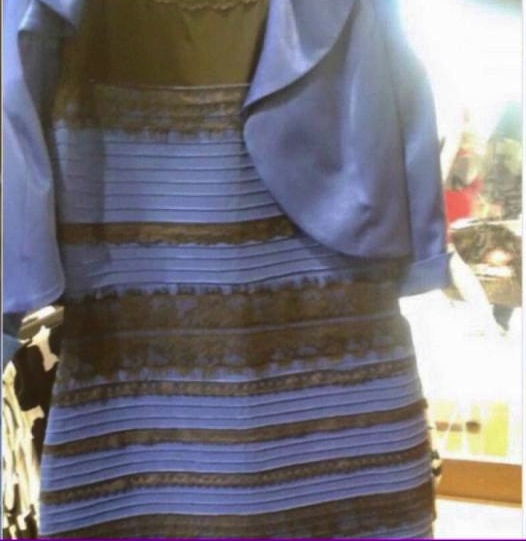 A photo of this dress recently went viral on Tumblr and other social media rapidly in a matter of hours.  People argue and fight all to answer the question: Is the dress white and gold, or black and blue?