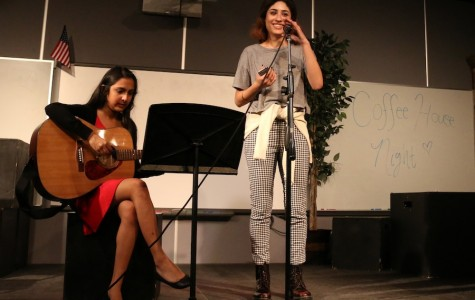Coffee house night entertains all