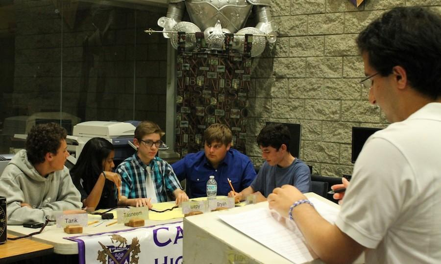 Jan. 5,2015 Carlsbad High School's academic league compeated against the taechers in friendly bowl.
