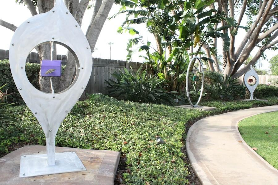 The Carlsbad Sculpture Garden by Tiffany Phillips includes eight pieces of her sculptures. The Sculpture Garden is open Monday-Thursday from 9 a.m-4 p.m.