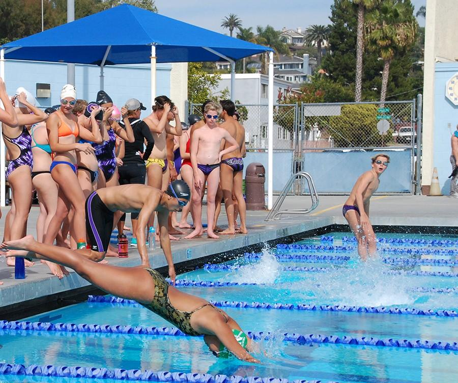 Swim team has meets every Friday. Their first home meet is March 20th against Torrey Pines.