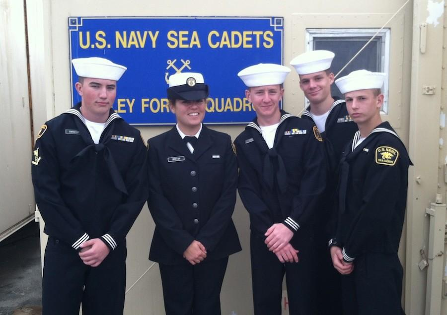 Mckenna Breton stands next to her fellow Junior Sea Cadets. Breton has been part of this program for two years.