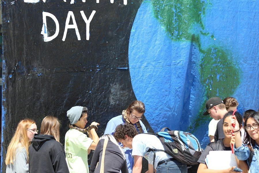 Carlsbad student celebrate Earth Day Friday April 22.