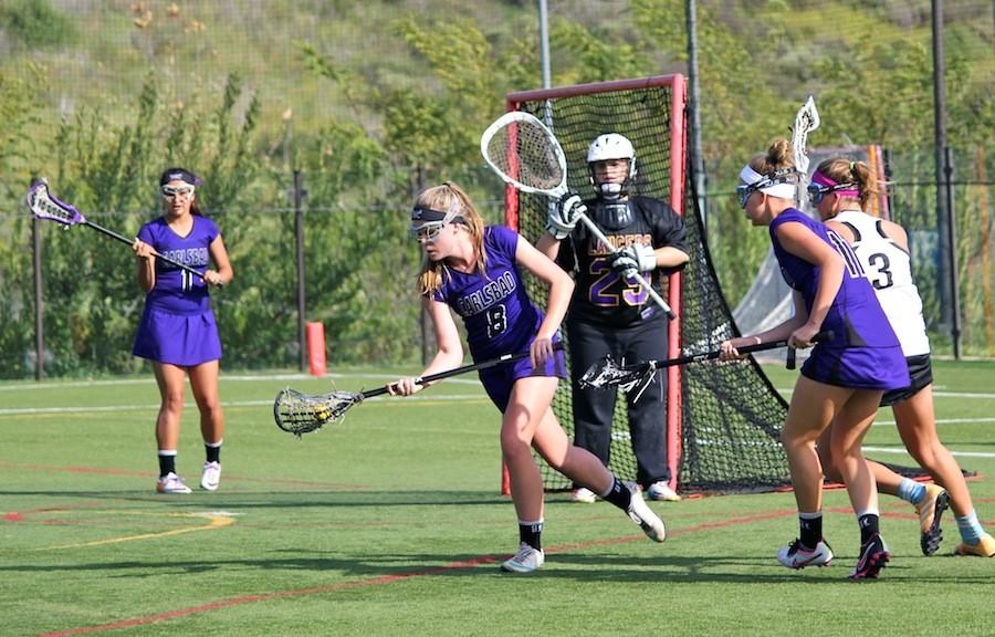Girls+varsity+lacrosse+took+on+Pacific+Ridge+shortly+before+playing+some+of+their+biggest+rivals%2C+Mission+Hills+and+La+Costa+Canyon.++While+unsure+of+the+outcome%2C+the+girls+pulled+off+both+wins.