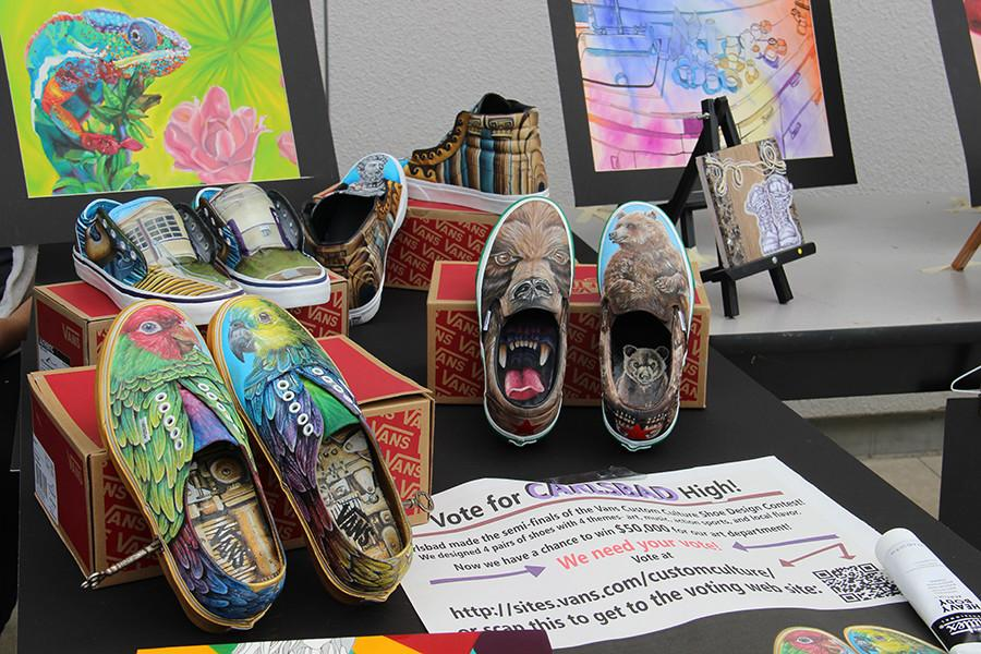Carlsbad High School is in the running for the Vans Custom Culture Shoe Design Contest for the second year in a row. You can vote at http://sites.vans.com/customculture .
