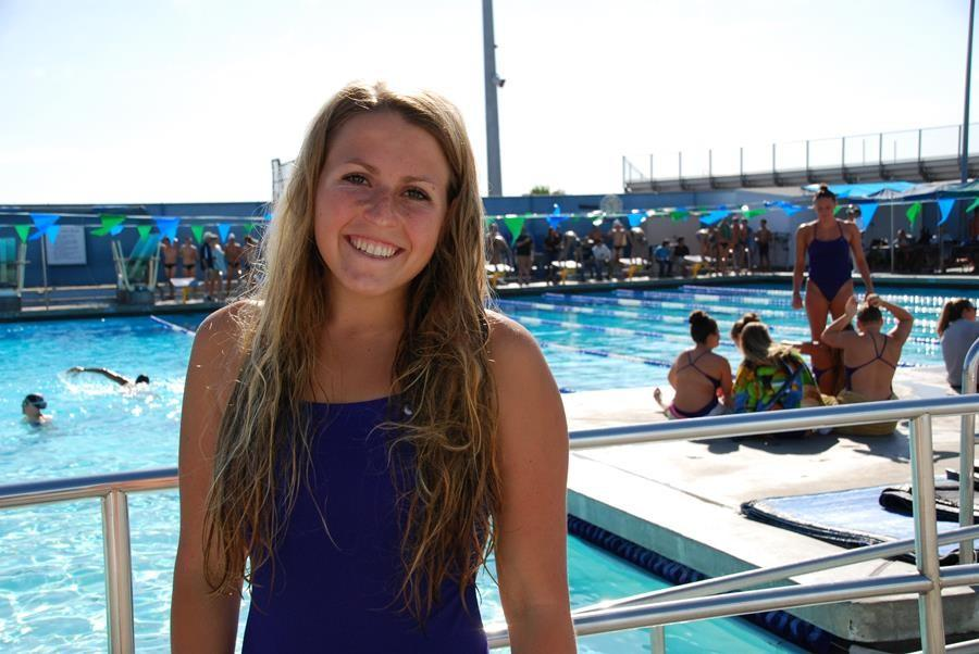 Carolyn Oertle (12) has been on varsity swimming for all 4 years of high school. She swam competitively on North Coast Aquatics.