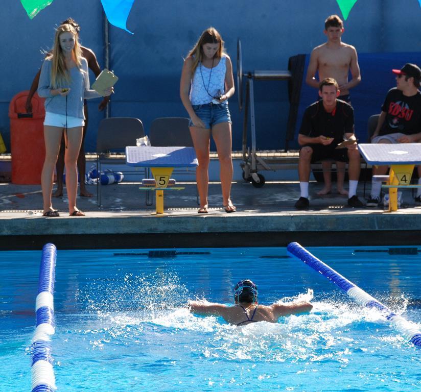 Swimming had the last meet until CIF playoffs. It was a tough meet against LCC.