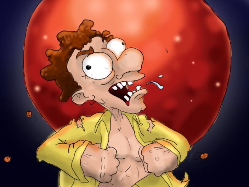 The blood moon gave John a good excuse to run through the streets without a shirt on.