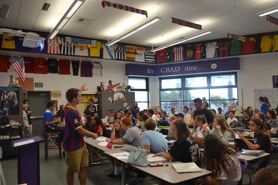 Students gather together to learn about the Spanish culture, and to talk about the upcoming lancer week and parade. Spanish club meets in room 5004 every other even Monday.